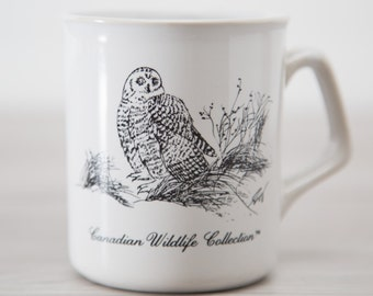 Vintage Snowy Owl Mug from the Canadian Wildlife Collection / Decorated in Canada
