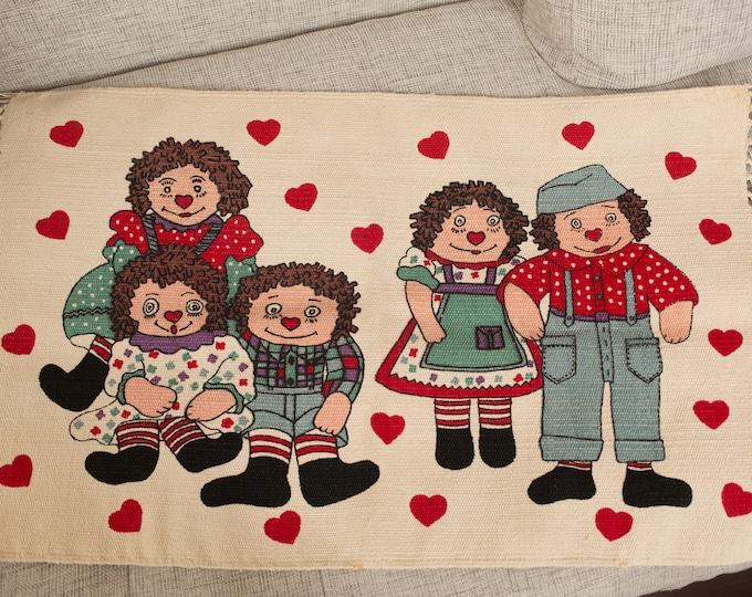 Raggedy Ann Rug - Rag Doll Rug - Raggedy Andy and Family Bath Mat