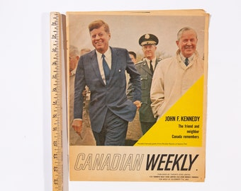 Canadian Weekly December 1963 with John F Kennedy JFK on the Cover - Published by the Toronto Star - Vintage Advertisements