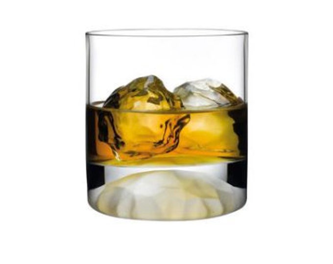 4 Whisky Glasses with Frosted Ripple Effect