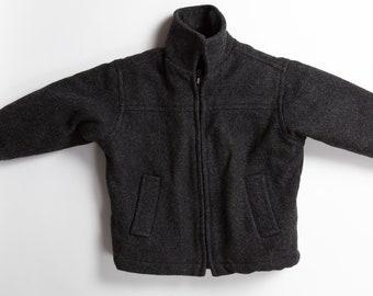 Boys Vintage Jacket - 5T Wool Grey Toddler Coat