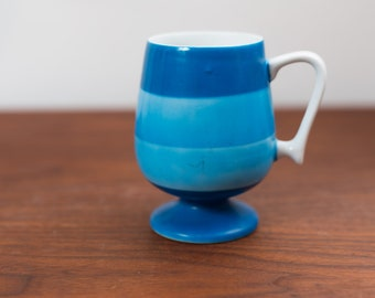 Vintage Blue Stripe Mug -Collectible Ceramic Coffee or Tea Mug - Made in Japan