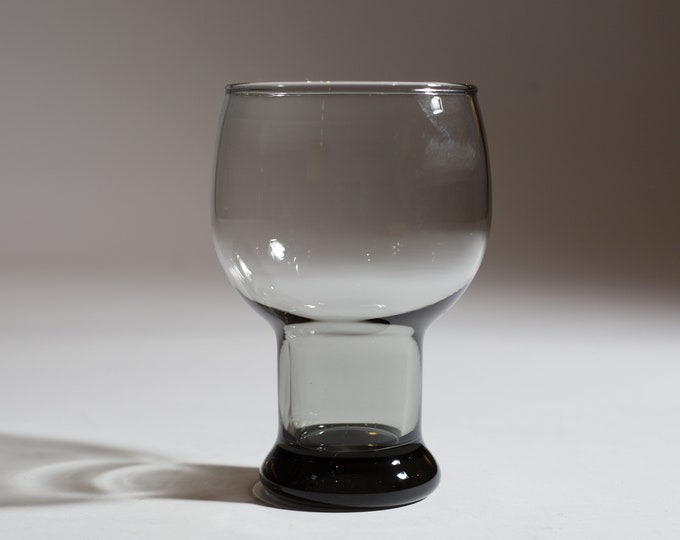 14oz Vintage Smoke Grey Bubble Top Beer Glasses for Water, Cocktails, or Beer (MCM Mad Men 1960's Spherical Circle Style Barware)