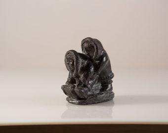 Vintage Inuit Sculpture -  Wolf Original Made in Canada Art Figurine / Northwest Territories Canada Souvenir