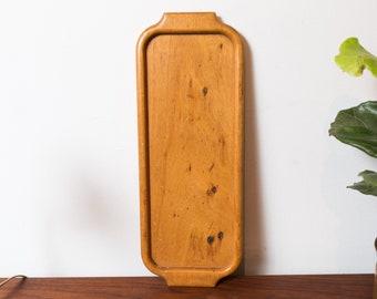 Vintage Wood Tray - Primitive Folk Vintage Handmade Carved Decorative Platter