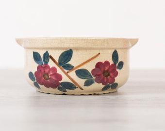 Vintage Flower Pot - Antique Ceramic Green, Cream Glaze Planter for Cactus, Succulents, Plants