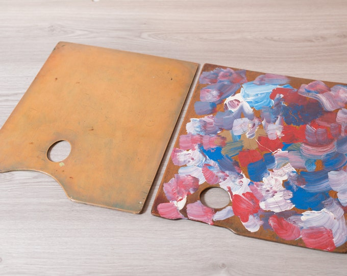 Original Painting Palettes - Vintage Oil or Acrylic Professional Painters Wood Board