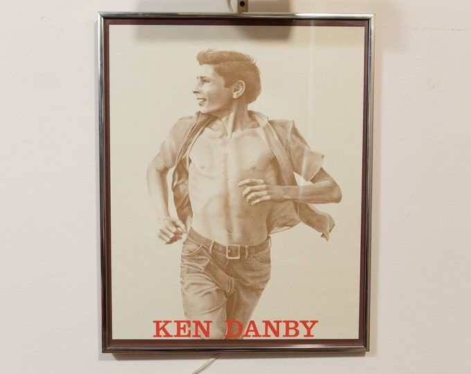 Vintage Ken Danby Print - Sketch of Boy Running - Black and White Youth Artwork - Gay Interest Male Body Man Figure Muscle Art - youthhood
