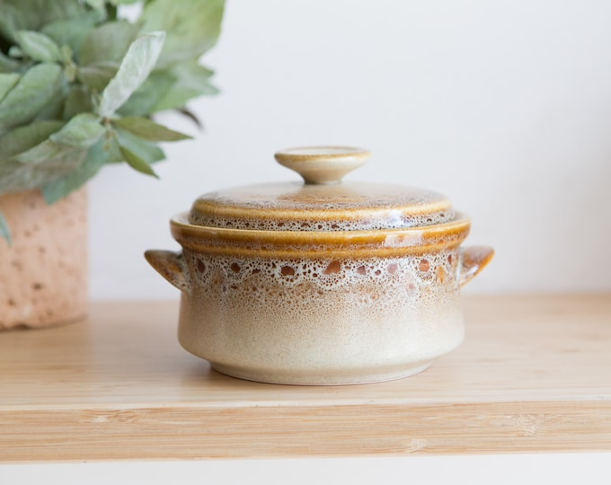 Vintage Casserole Dish - Mikasa Lidded Soup Bowl Pottery Pot  - Farmhouse Country Rustic Decor