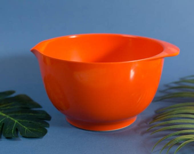 Rosti Orange Bowl - 3L Vintage 60's/70's Mid Century Modern Baking Bowl - Mepal Service Rosti Denmark Kitchen Decor