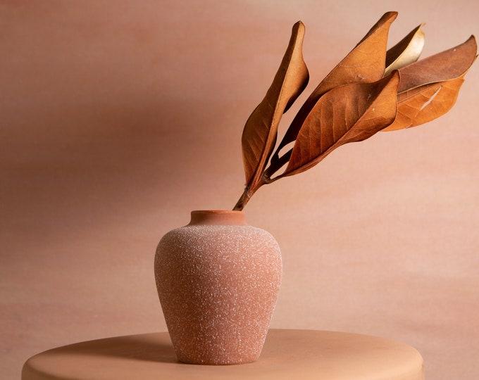 Speckled Ceramic Pot - Handmade Terracotta Studio Ceramic Vintage Earthtone Plant Pot - Boho Modern Minimalist Nude Planter