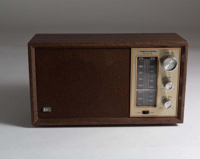 Vintage Radio - AM/FM Stereo Model MTA-8  - Retro Wood Rectangle Bedside Radio