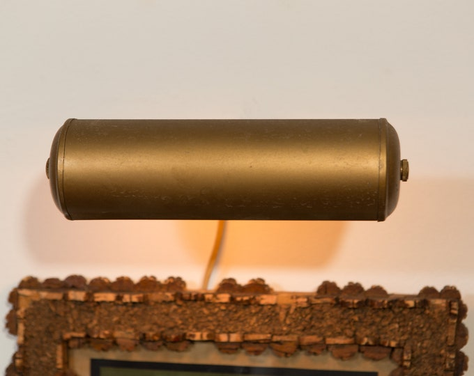 Wall Picture Light - Vintage Antique Bronze Colored Adjustable Metal PaintingLight  / Artwork Tube Lamp