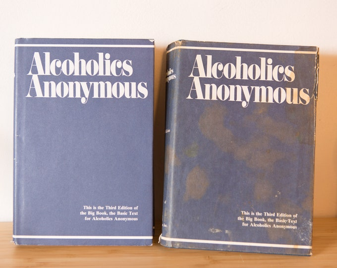 Alcoholics Anonymous 1976 - Third Edition Hardcover Books
