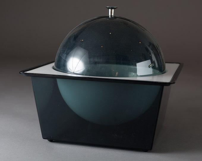 Vintage Tasty Temp Food Server Bowl - Vintage 60's/70's Mid Century Modern Serving Bowl - Dome Top Art Deco Black and White Bowl