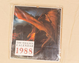 The Tolkien Calendar 1988 Illustrated by Roger Garland, Ted Nasmith, John Howe - Lord of The Rings Memorabilia