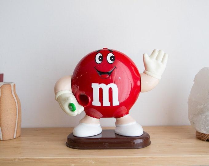 Vintage 1992 M&M's Dispenser - Collectible Mars Chocolate - Plastic Candy Machine