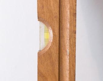 Vintage Wood Level - Natural Light Cedar Colored Wood Measuring Leveller - Carpenters Tool - Toronto Vintage - Canada Second Voyage Antiques