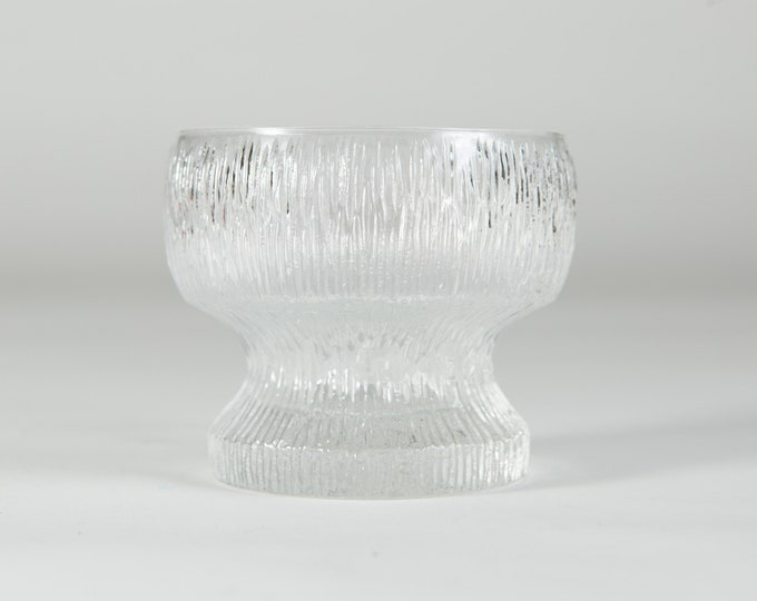 Icicle Glass Bowl - Frosty Scandinavian Finnish Style Frosted Finland Dessert Ice Cream Compotes - Mid Century Modern Ice Norwegian