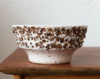 Vintage Planter with Cookies and Cream Glaze - Neutral Ceramic Pot - Handmade Studio Ceramic Vintage Earthtone Plant Pot - Boho Modern Decor