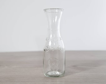 Vintage Milk Bottle - Brasswell's Retro Style Dairy Bottles / Flower Vases Wedding Decor Table Centrepieces / Water Pitcher Carafe