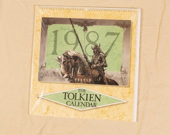 The Tolkien Calendar 1987 Illustrated by Roger Garland, Ted Nasmith, John Howe - Lord of The Rings Collectible Memorabilia