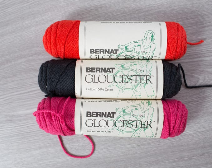 Vintage Bernat Gloucester Pink Cotton Yarn / Sports Yarn Made in Brazil