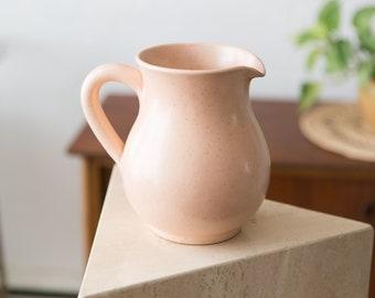 Vintage Pink Ceramic Pitcher / Planter / Water Jug / Vase