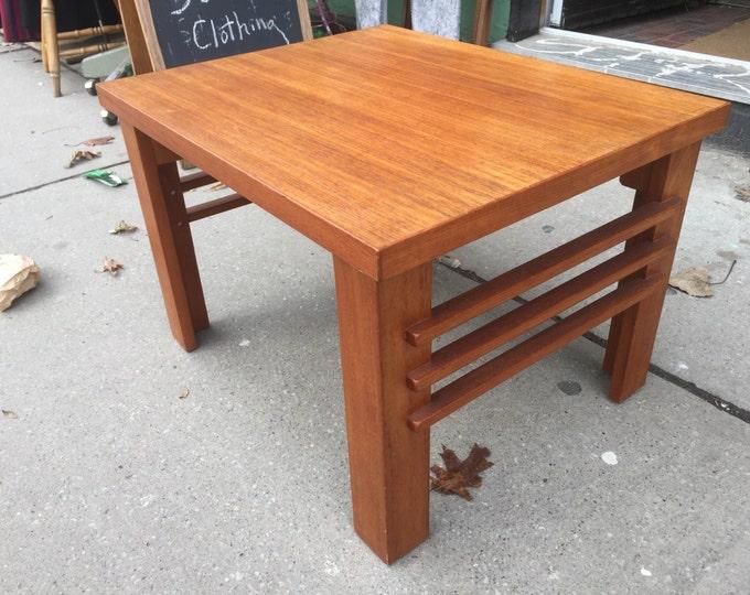 Teak Coffee Table /  Mid Century Scandinavian Danish Modern Teak Table