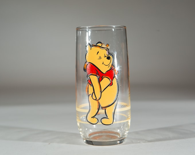 Winnie The Pooh Glasses - Vintage Disney Collectible Drinking Glasses with Tigger and Pooh Bear
