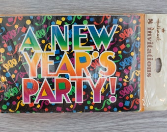 8 Vintage New Year's Party Invitations by Hallmark