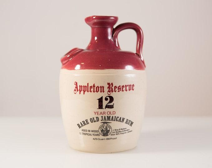 1970's Appleton Reserve Rare Old Jamaican Rum Genuine Stoneware Bottle - Collectible Rum Liqueur Bottle