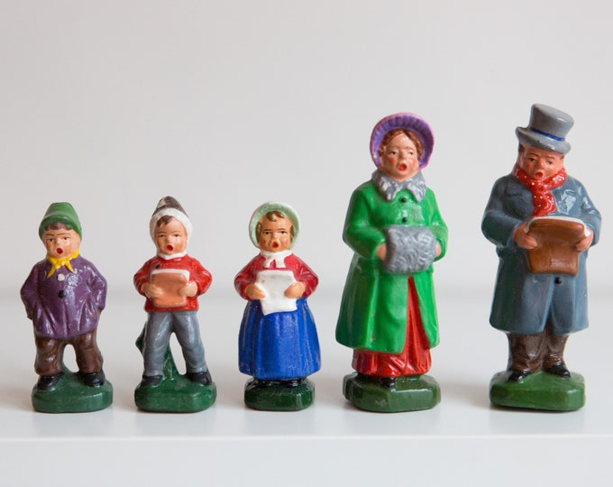 Vintage Christmas Carol Dolls - Holiday Figurines from West Germany