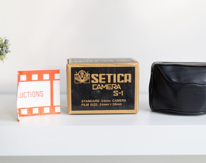 Setica S-1 Film 35mm Camera - Vintage Working Black Point and Shoot Camera