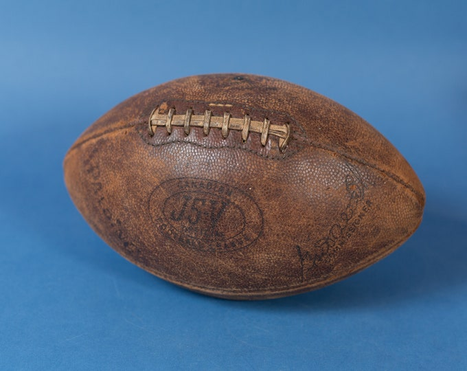 Vintage Collectible Football - Spalding Canadian J5-V Football League Commissioner Football - Athletic Sports Footy Decor