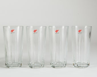 Bormioli Rocco Drinking glasses - Set of 4 Cocktail Glasses - Thick Clear Glass Barware - New Years Party