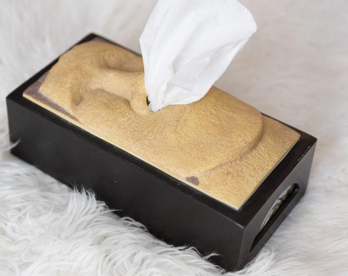 Easter Island Moai Tissue Box Cover / Tiki Head Kleenex Box With Nose Dispenser