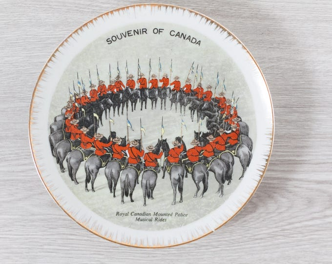 RCMP Collectible Plate / Royal Canadian Mounted Police Musical Rides / Fine Hand painted China / Canada150