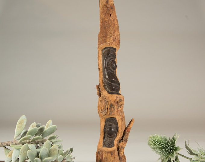 Makonde Tree Sculpture - African Family Tree - Blackwood Ebony Hand Carved Rare Folk Art of Africa- Traditional Wooden Carving