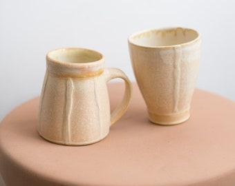 Muted Ceramic Mugs - Handmade Studio Pottery - Ceramic Cups - Boho Modern Decor - Gift for Her - Gift for Him
