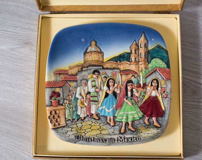 Beswick Royal Doulton Collectors Plate / Limited Edition 1973 Christmas in Mexico Plate