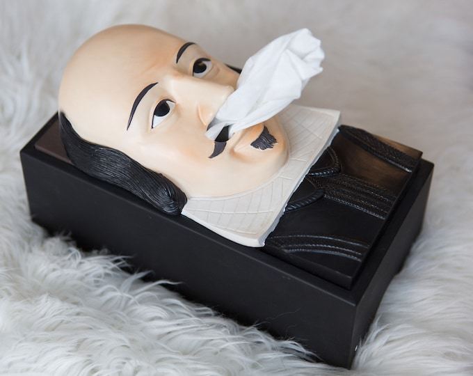 Shakespeare Tissue Box Cover / Kleenex Box With Nose Dispenser