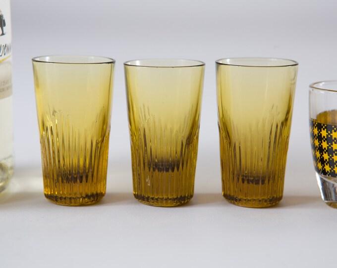 7 Vintage Shot Glasses - Mismatched Apéritif Cocktail Glass