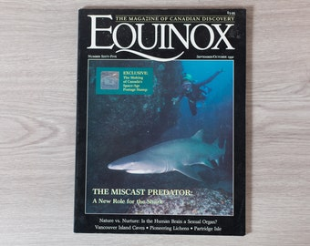 Equinox Magazine - September October 1992 - The Magazine of Canada's Discovery - Shark Book