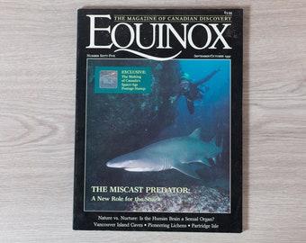 Equinox Magazine - September October 1992 - The Magazine of Canada's Discovery - Shark Book