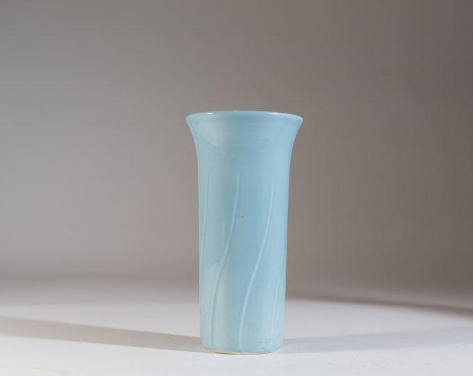 Vintage Baby Blue Vase - Pastel Soft Blue Tulip Vase