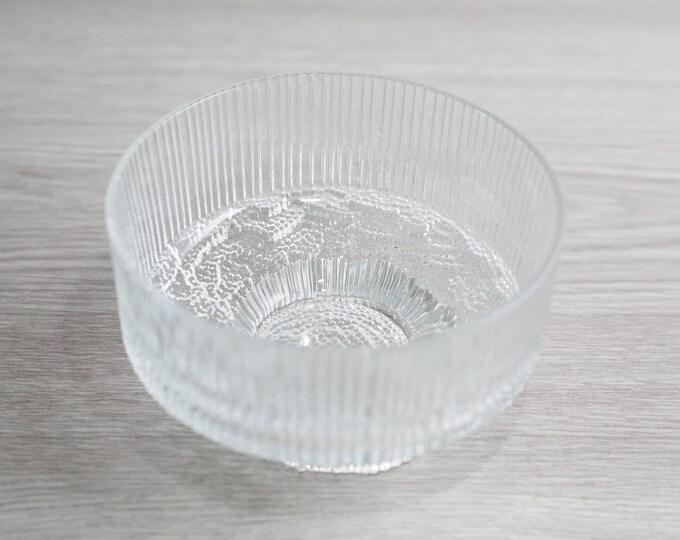 Vintage Icicle Style Footed Trifle Dessert Parfait Fruit Cup Bowls / Mid Century Ice Design Finland Finnish Scandinavia Scandinavian