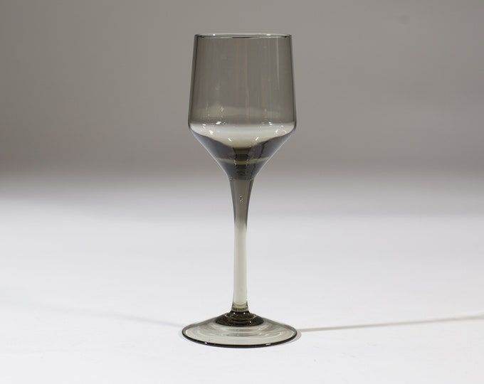 1 Smoke Grey Apéritif Glasses - 2.5oz Set of Vintage Orrefors Rhapsody Glass (MCM Mad Men 1960's Style Liquor Stemware Barware)