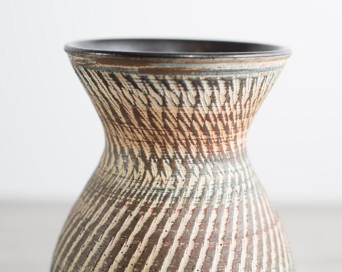 Ges Gesch Vase, Sgraffito Dümler & Breiden, Höhr Germany / Handmade intricate Pottery Urn