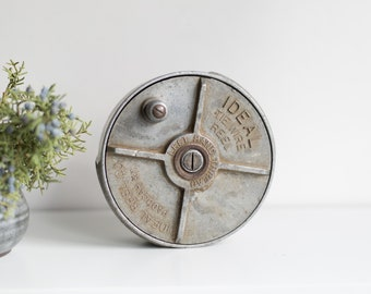 Vintage Metal Reel - Ideal Tie Wire Reel - Left Hand Thread - Ideal Reel Co. Collectible